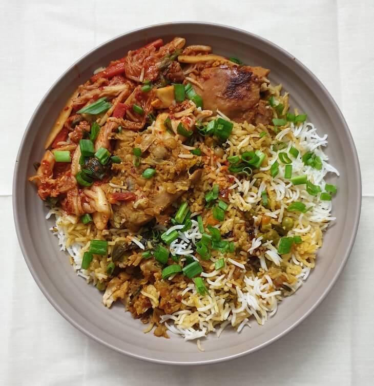 Easy Kimchi Chicken Biryani Recipe