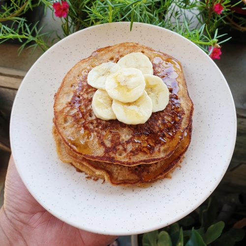 Whole Wheat Banana Pancakes
